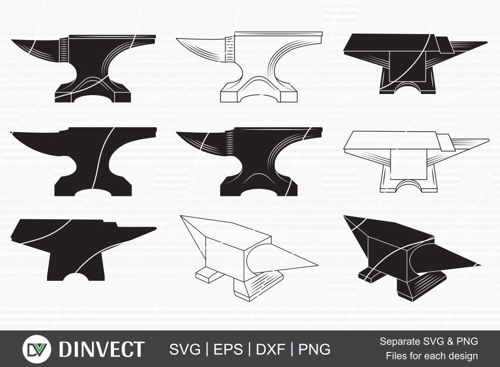 Anvil SVG Bundle, Anvil clipart, Anvil silhouette