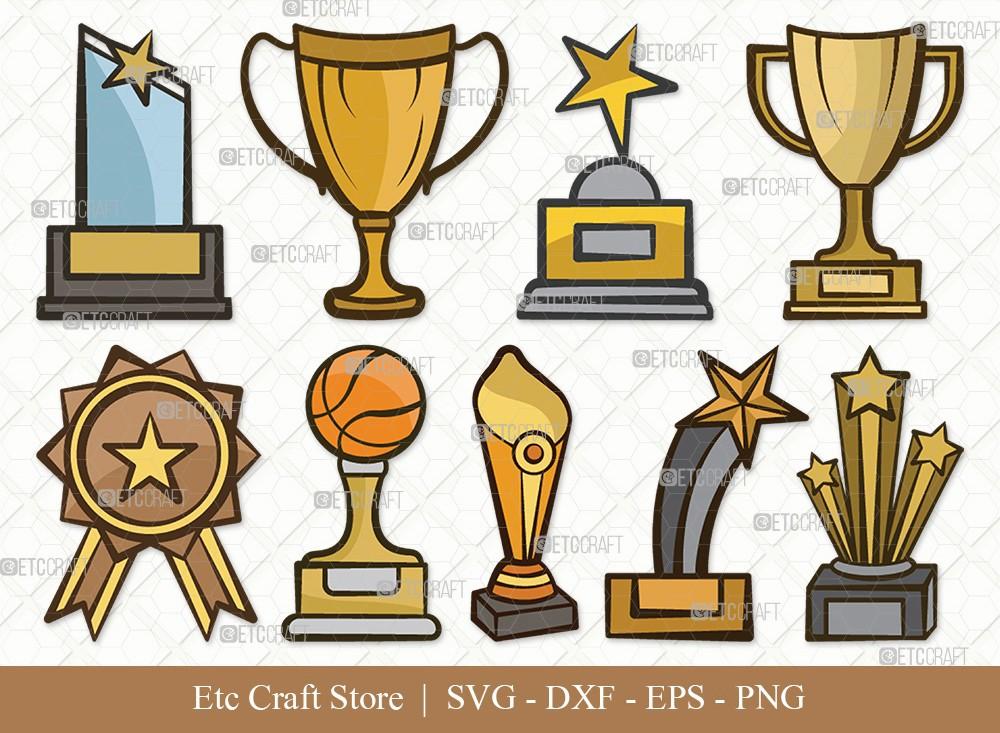 Award Trophy Clipart SVG Cut File | Trophy Cup Svg