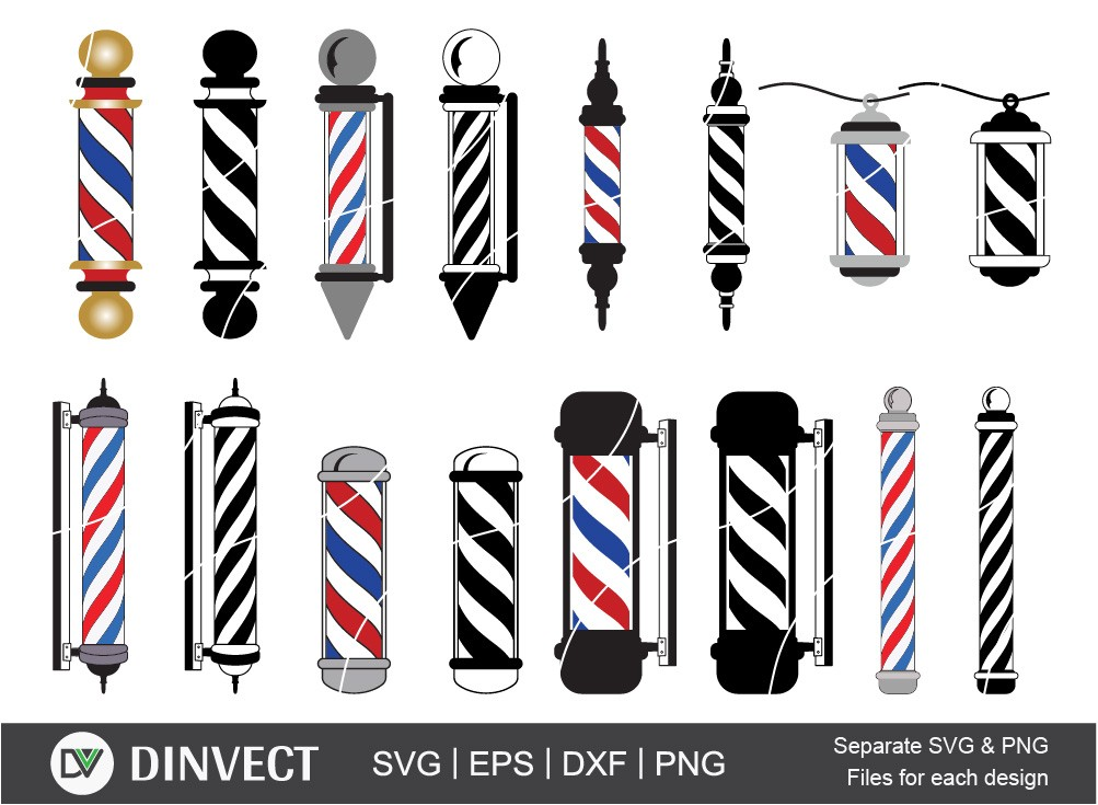 Barbers Pole svg, Barber svg