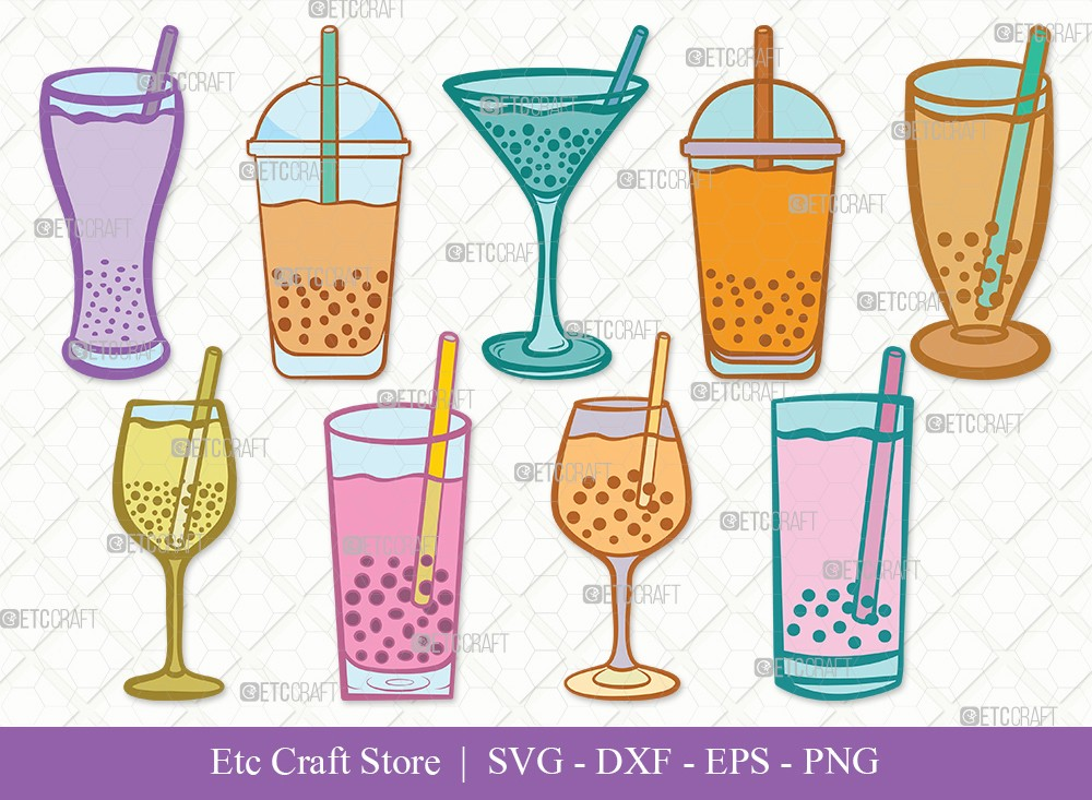Bubble Tea Clipart SVG Cut File | Boba Tea Svg