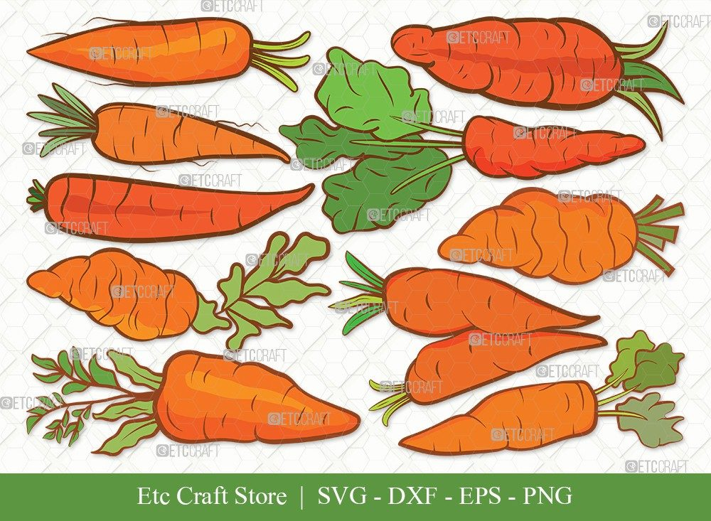 Carrot Clipart SVG Cut File | Vegetable Svg