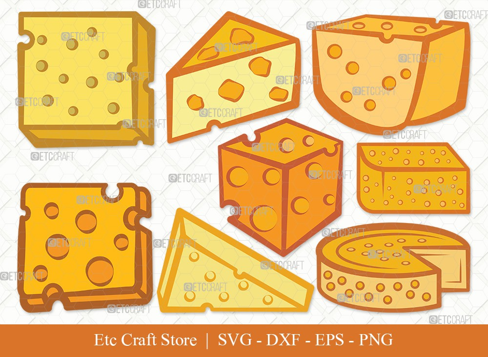 Cheese Clipart SVG Cut File | Cheese Slice Svg