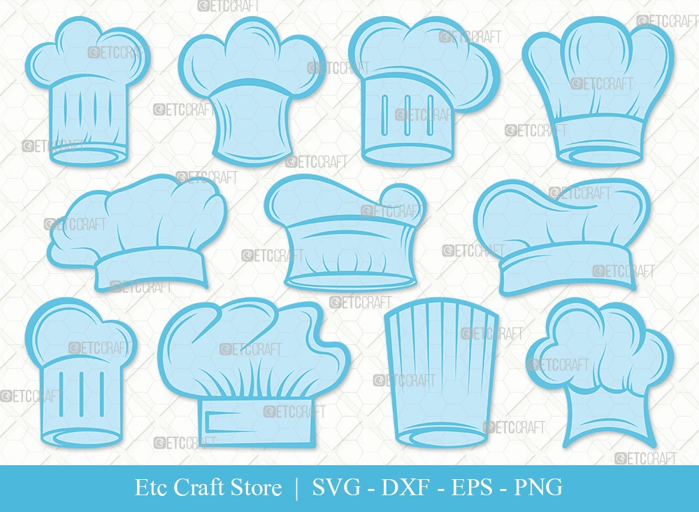 Chef Hat Clipart SVG Cut File | Chef Svg