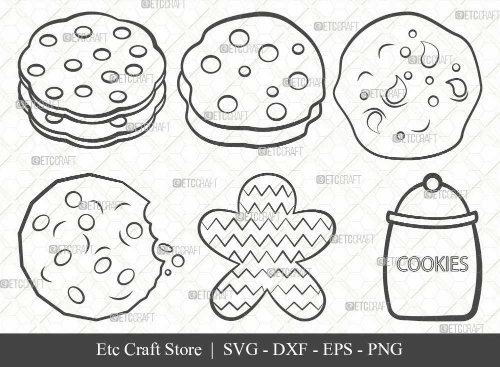 Cookie Outline SVG Cut File | Pastry Svg