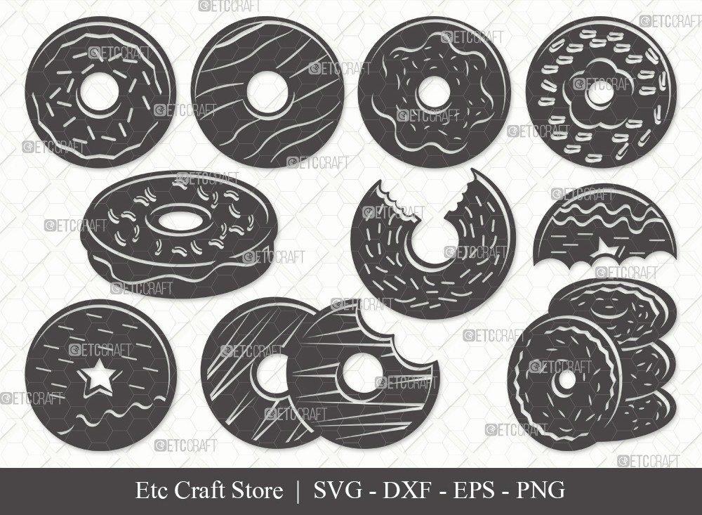 Donut Silhouette SVG Cut File | Doughnut Svg