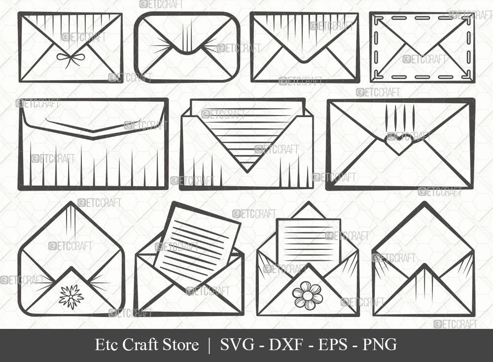 Envelope Outline SVG Cut File | Mail Svg