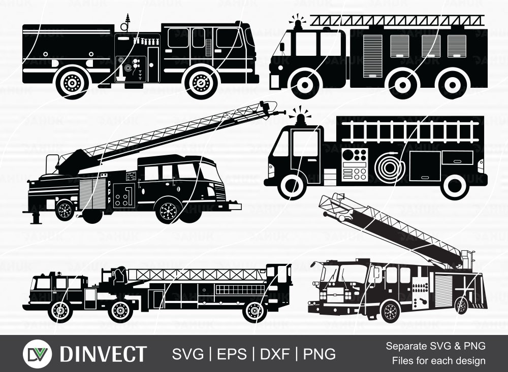 Fire Truck svg, Fire Truck Bundle, Fire Truck Clipart