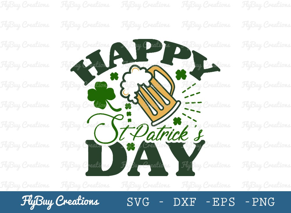 Happy St Patricks Day SVG | Shamrock Svg