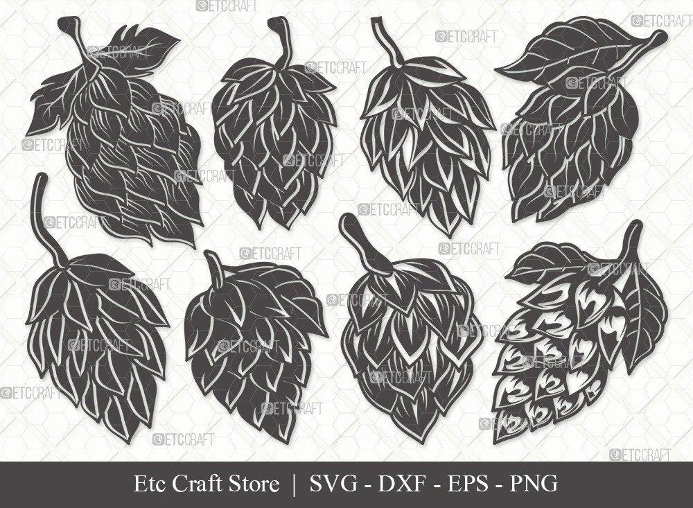 Hops Silhouette SVG Cut File | Beer Hops Svg