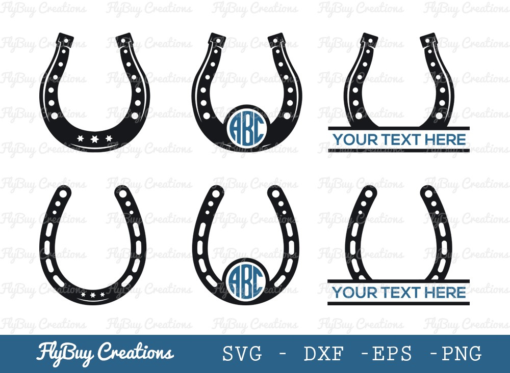 Horseshoe SVG Cut File | Horseshoe Floral Svg