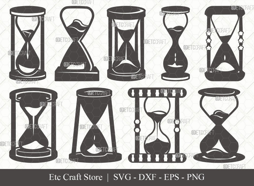 Hourglass Silhouette SVG Cut File | Hour Glass Svg