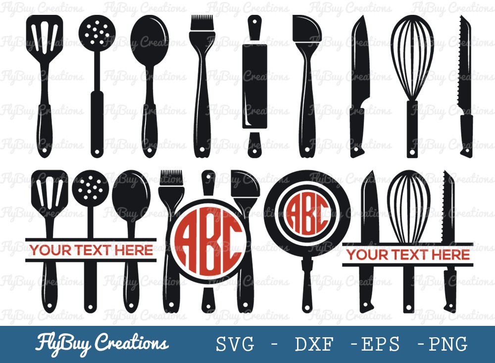 Kitchen Utensil SVG Cut File | Kitchen Tools