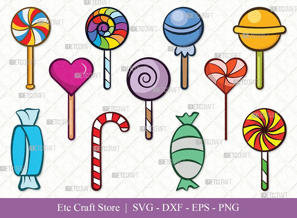 Lollipop Clipart SVG Cut File | Sweets Candy Svg