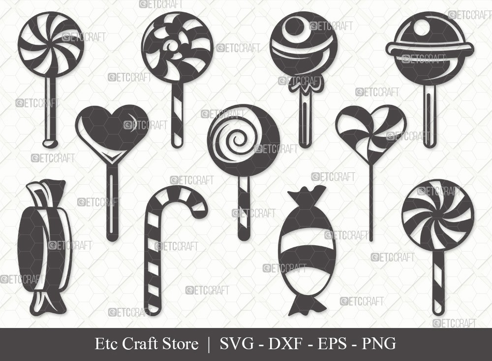 Lollipop Silhouette SVG Cut File | Sweets Candy Svg