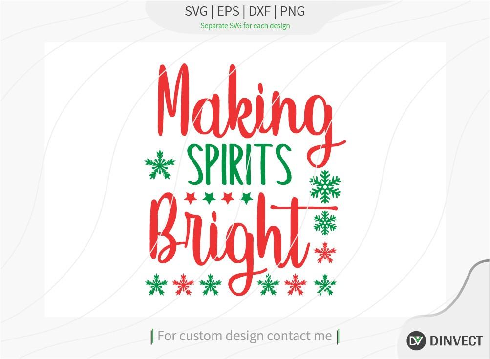 Making spirits bright SVG
