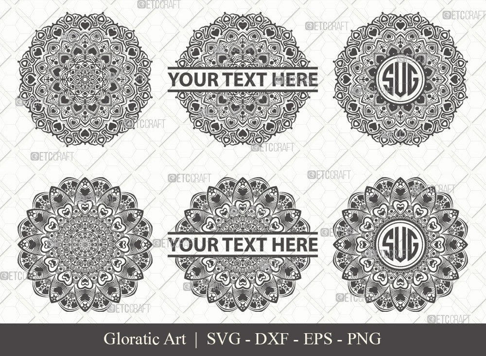 Mandala SVG Cut File | Monogram | M0013