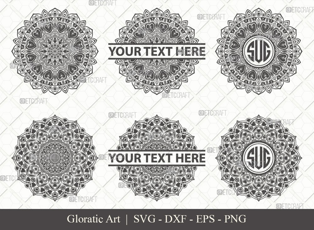 Mandala SVG Cut File | Monogram | M00016