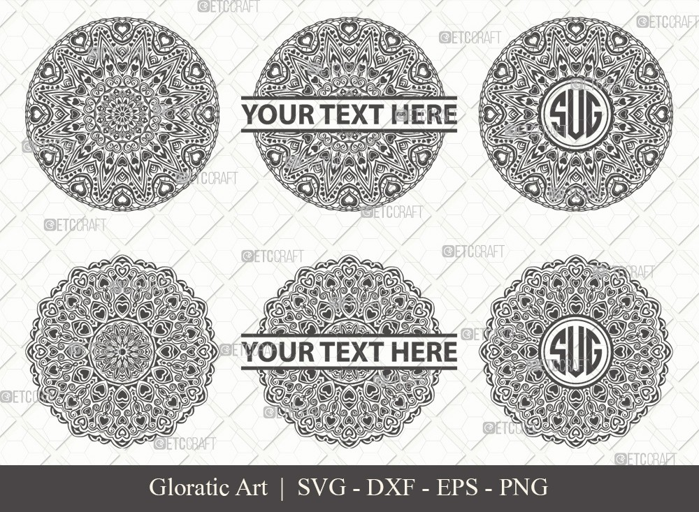 Mandala SVG Cut File | Monogram | M00017