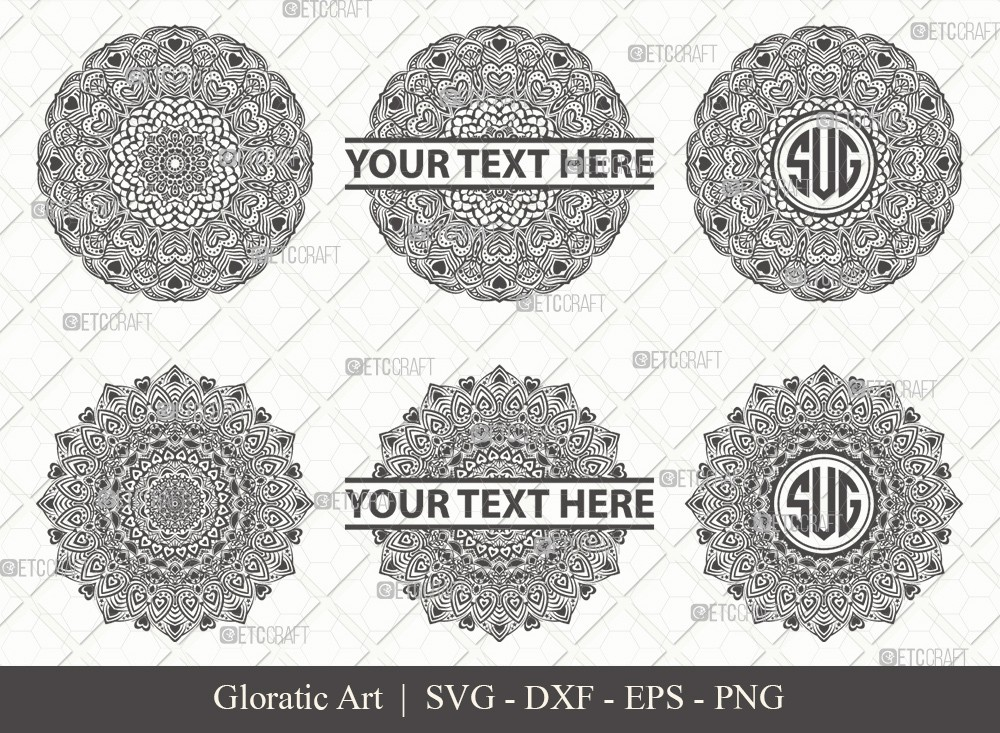 Mandala SVG Cut File | Monogram | M00018