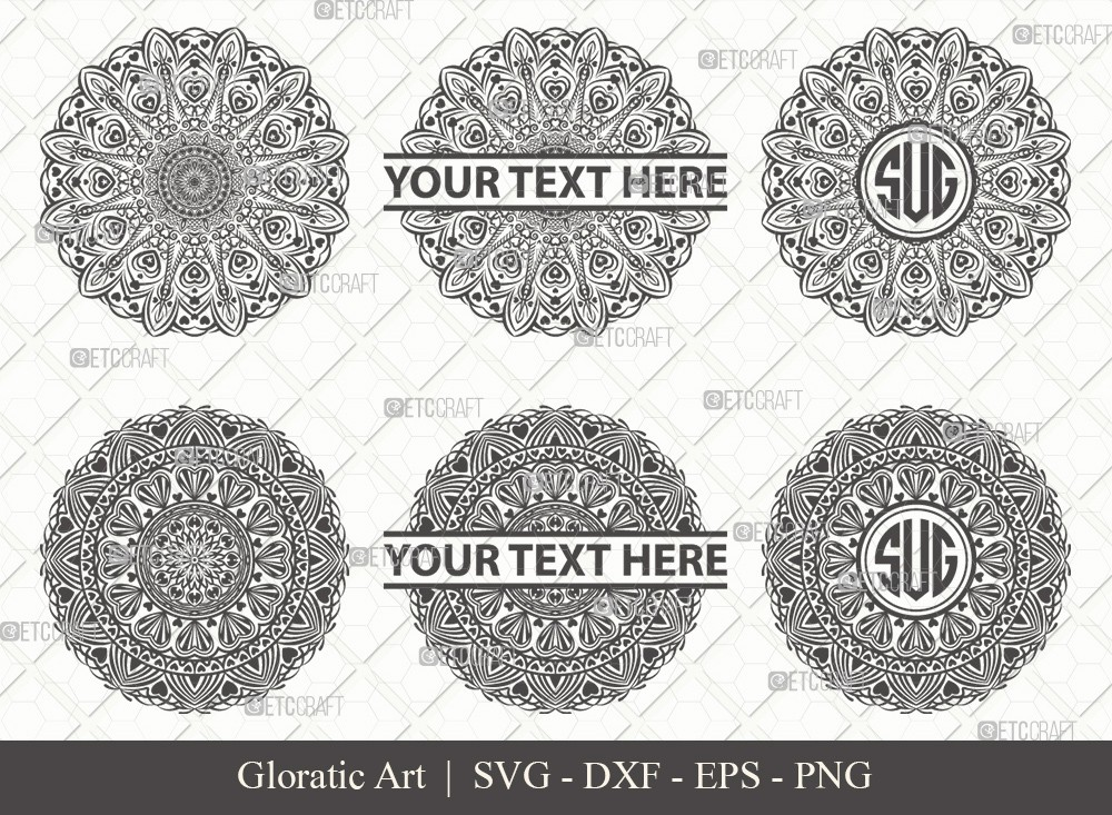 Mandala SVG Cut File | Monogram | M0003