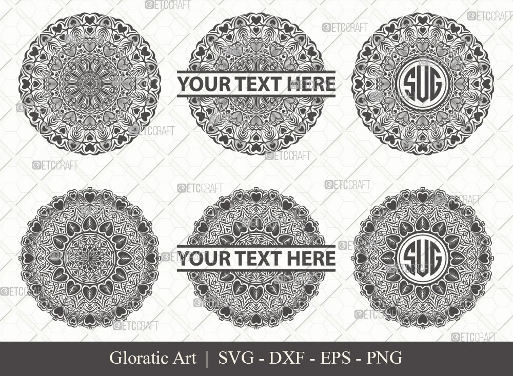 Mandala SVG Cut File | Monogram | M0004