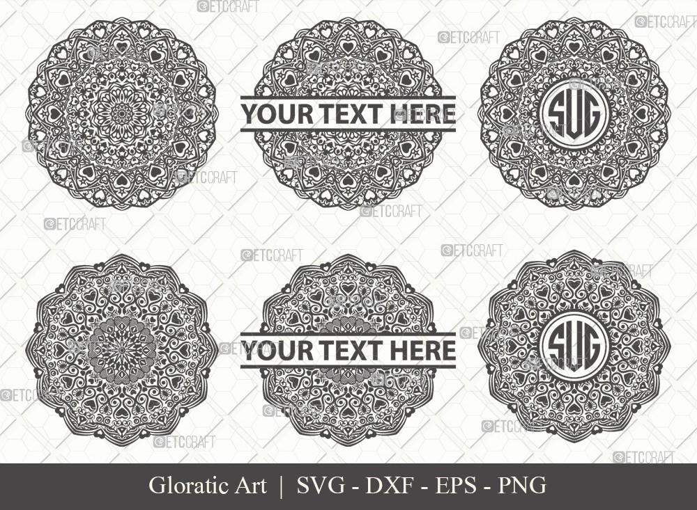 Mandala SVG Cut File | Monogram | M0005