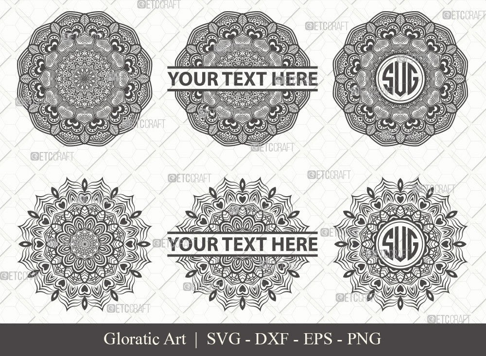 Mandala SVG Cut File | Monogram | M0006