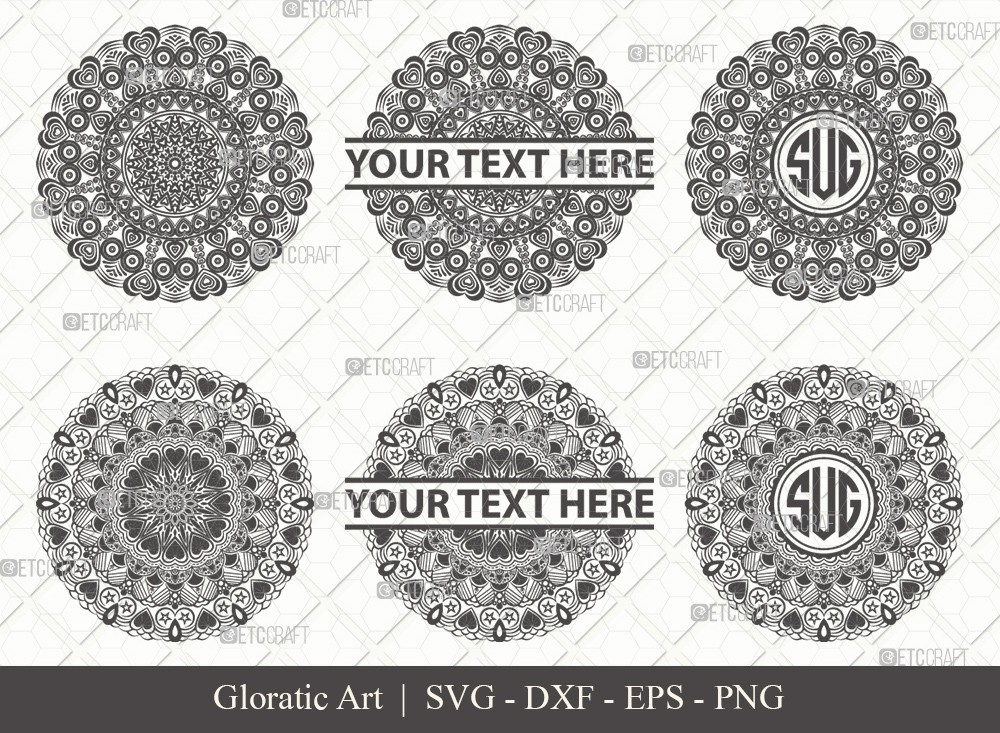 Mandala SVG Cut File | Monogram | M0009