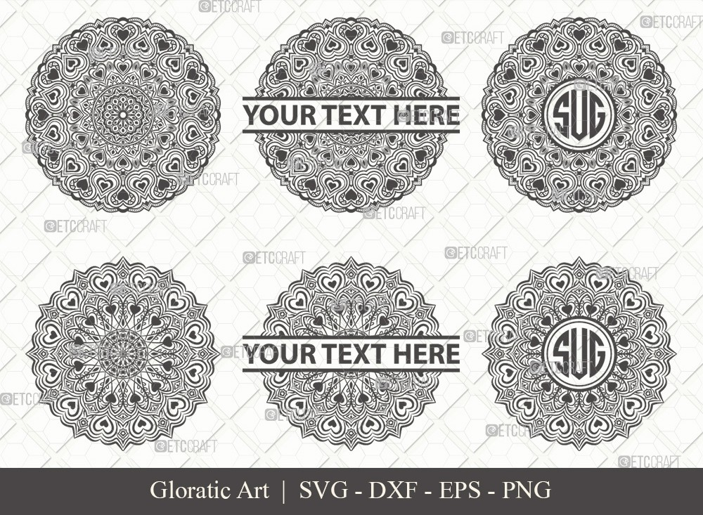 Mandala SVG Cut File | Monogram | M0001
