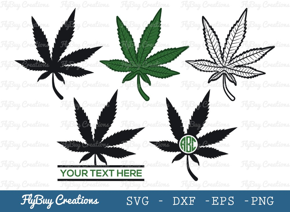 Marijuana Leaf SVG Cut File | Cannabis Leaf Svg