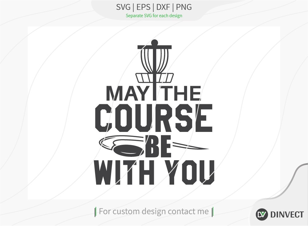 May the course be with you SVG cut file