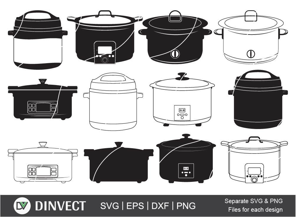 Pressure Cooker SVG, Cooker svg, Slow cooker