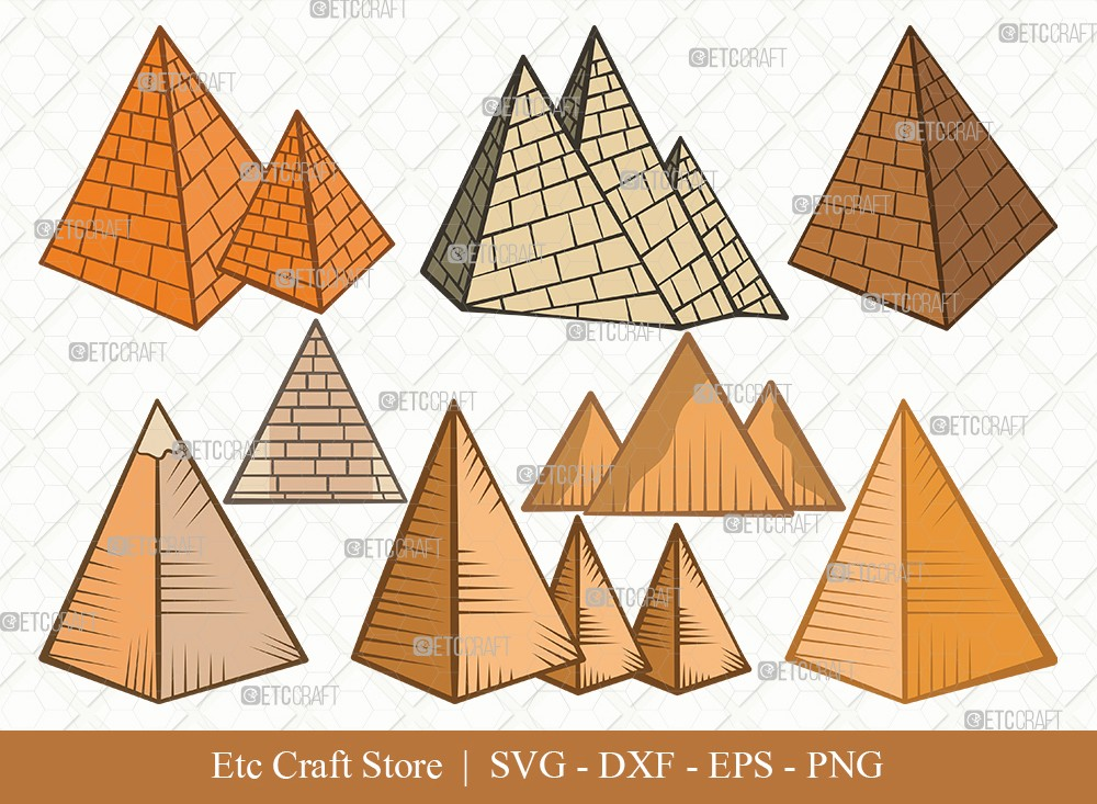 Pyramid Clipart SVG Cut File | Egypt SVG