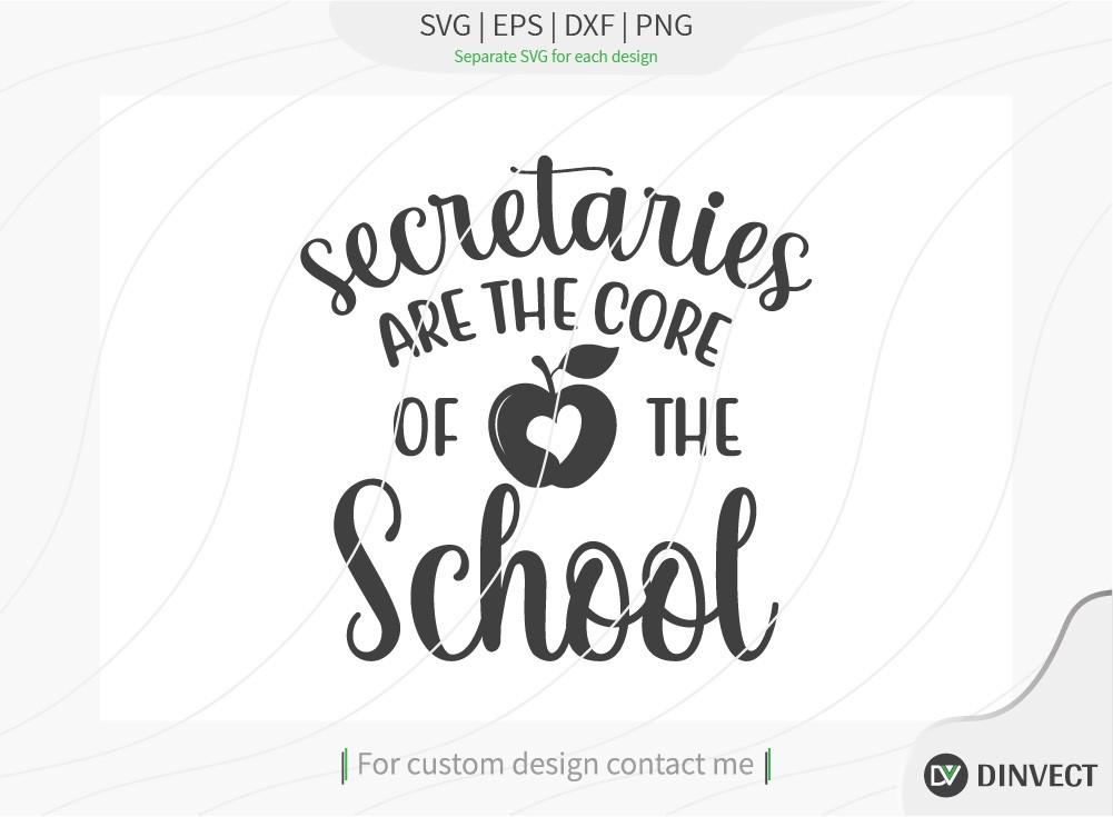Secretaries are the core of the school SVG Cut File