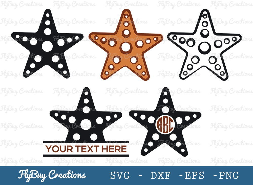 Starfish SVG Cut File | Ocean Starfish Svg