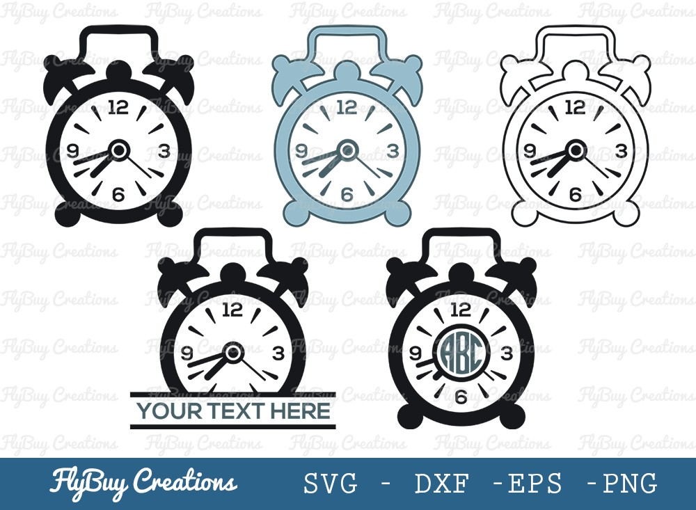 Table Clock SVG Cut File | Watch Svg | Timer Svg