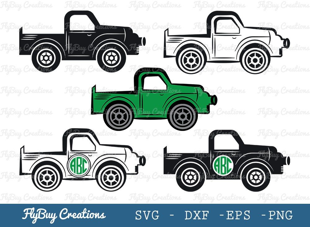 Vintage Farm Truck SVG Cut File | Wheeler Svg