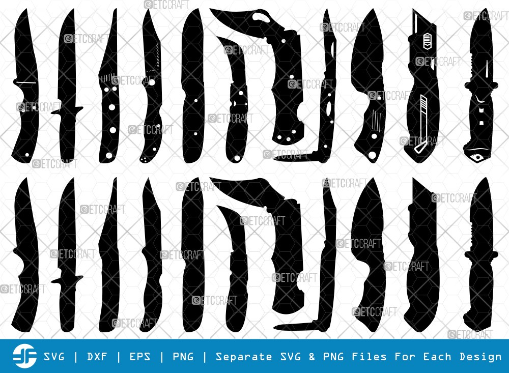 Utility Knife SVG Cut Files | Knife Silhouette