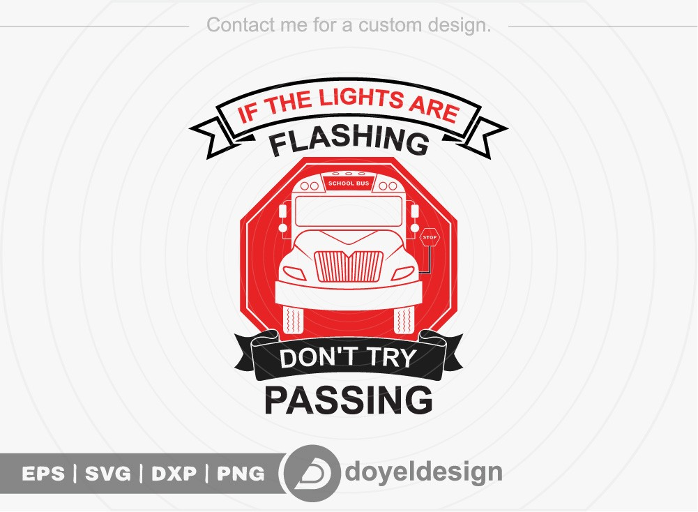 If the lights are flashing dont try passing SVG
