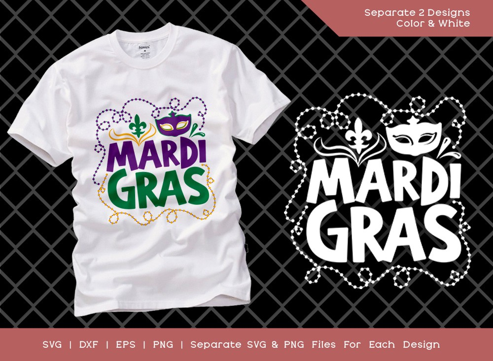 Mardi Gras SVG Cut File | Happy Mardi Gras SVG