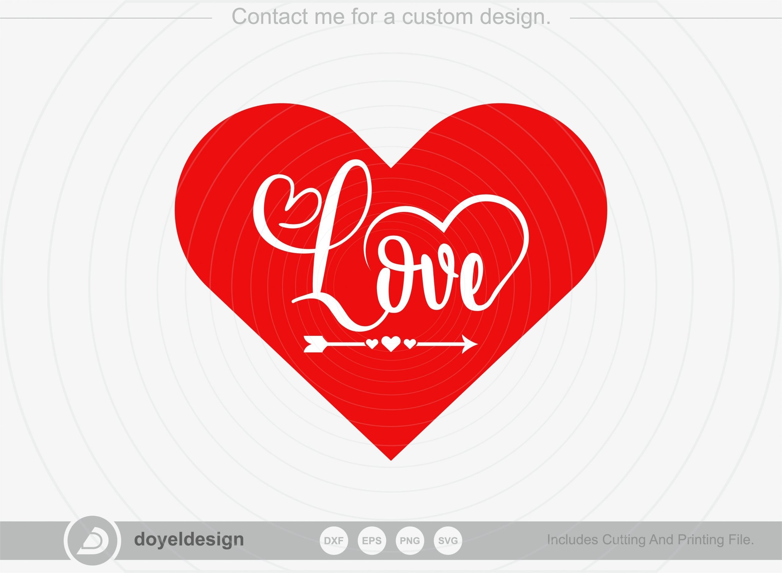 Love SVG Cut File, Happy valentine's day