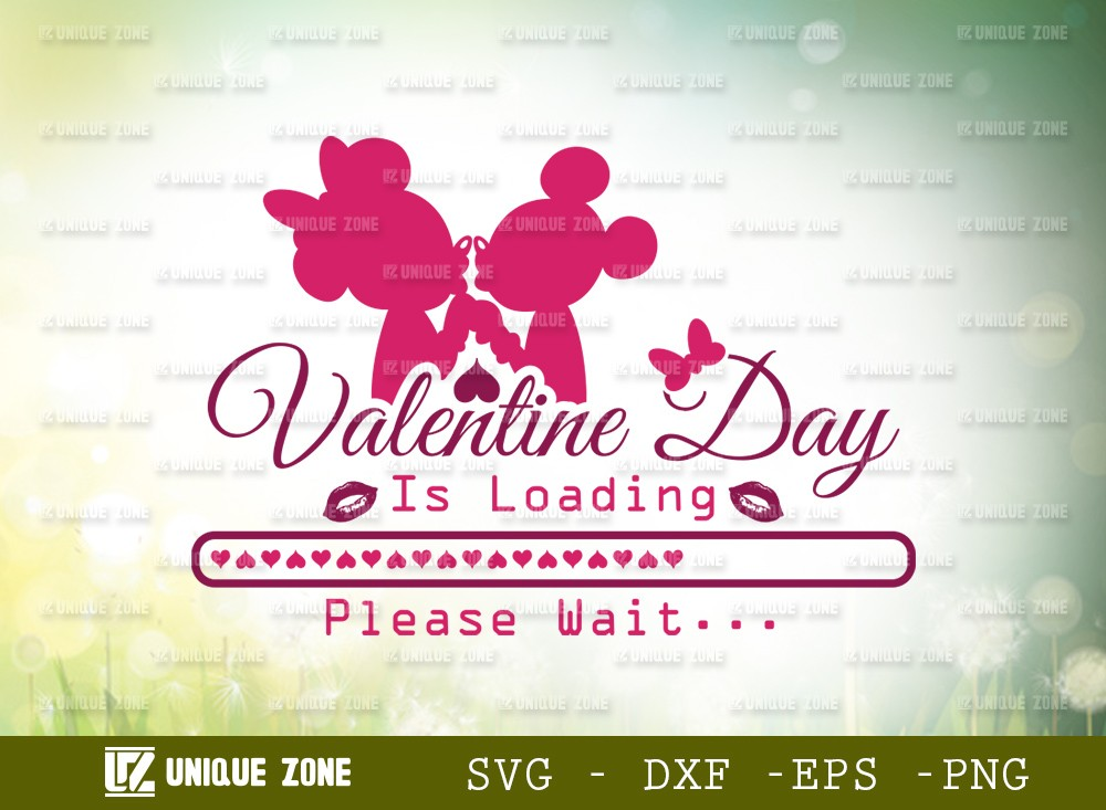 Valentine Day Is Loading Please Wait Svg Cut File