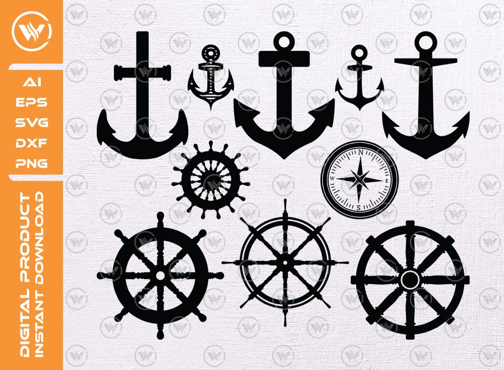 Anchor SVG | Anchor Silhouette | Anchor Icon SVG Cut File