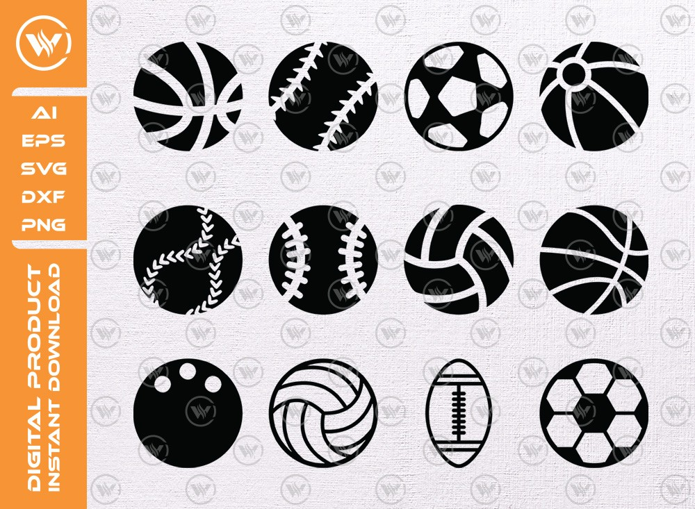 Ball Icon SVG | Ball Silhouette | Ball Icon SVG Cut File