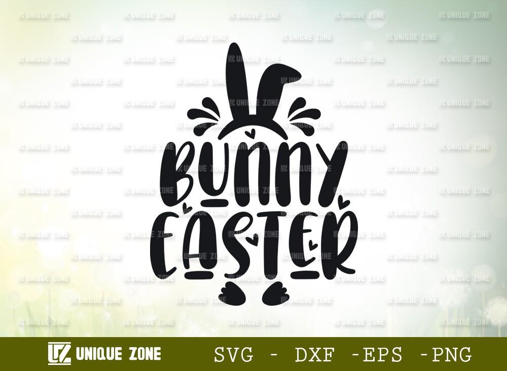 Bunny Easter SVG Cut File | Happy Easter Svg