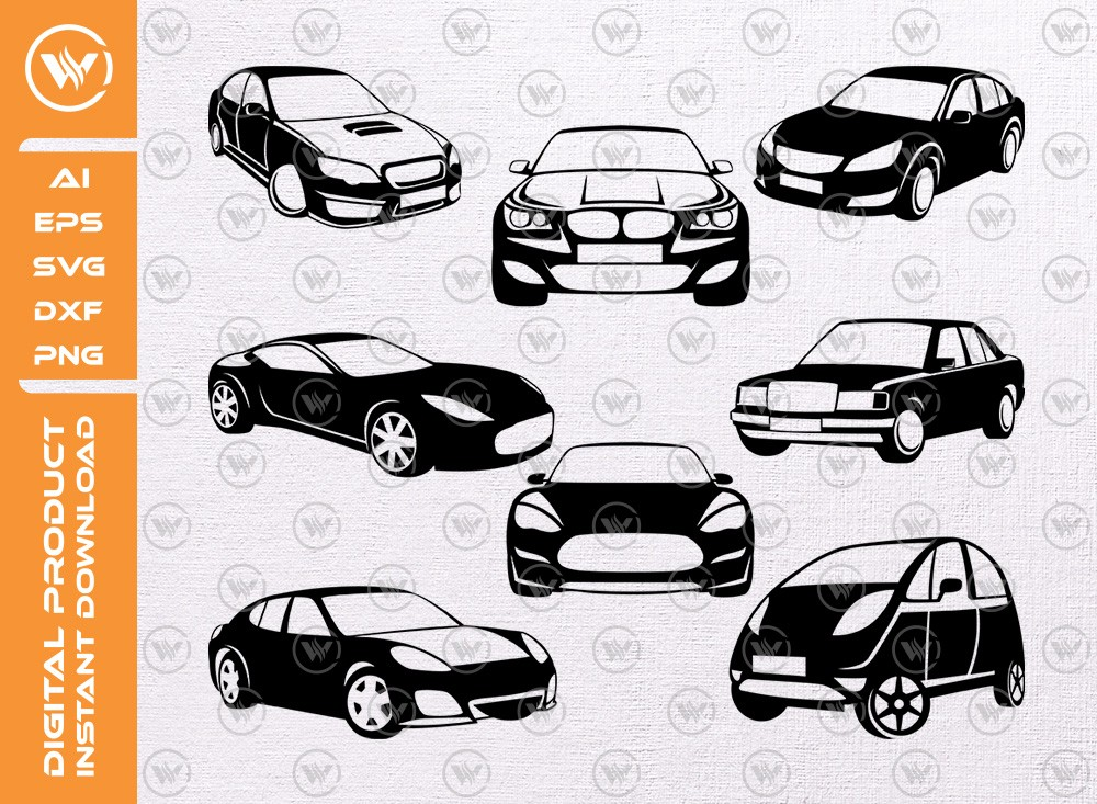 Cars SVG | Cars Silhouette | Cars Icon SVG Cut File