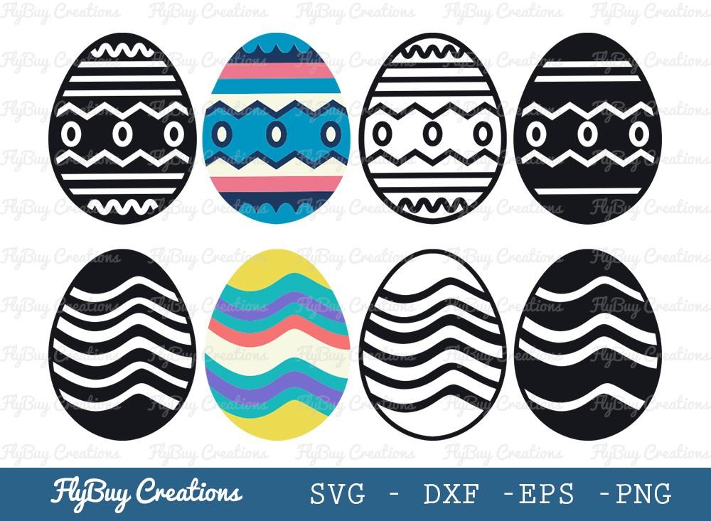 Easter Eggs SVG Cut File | Easter Svg