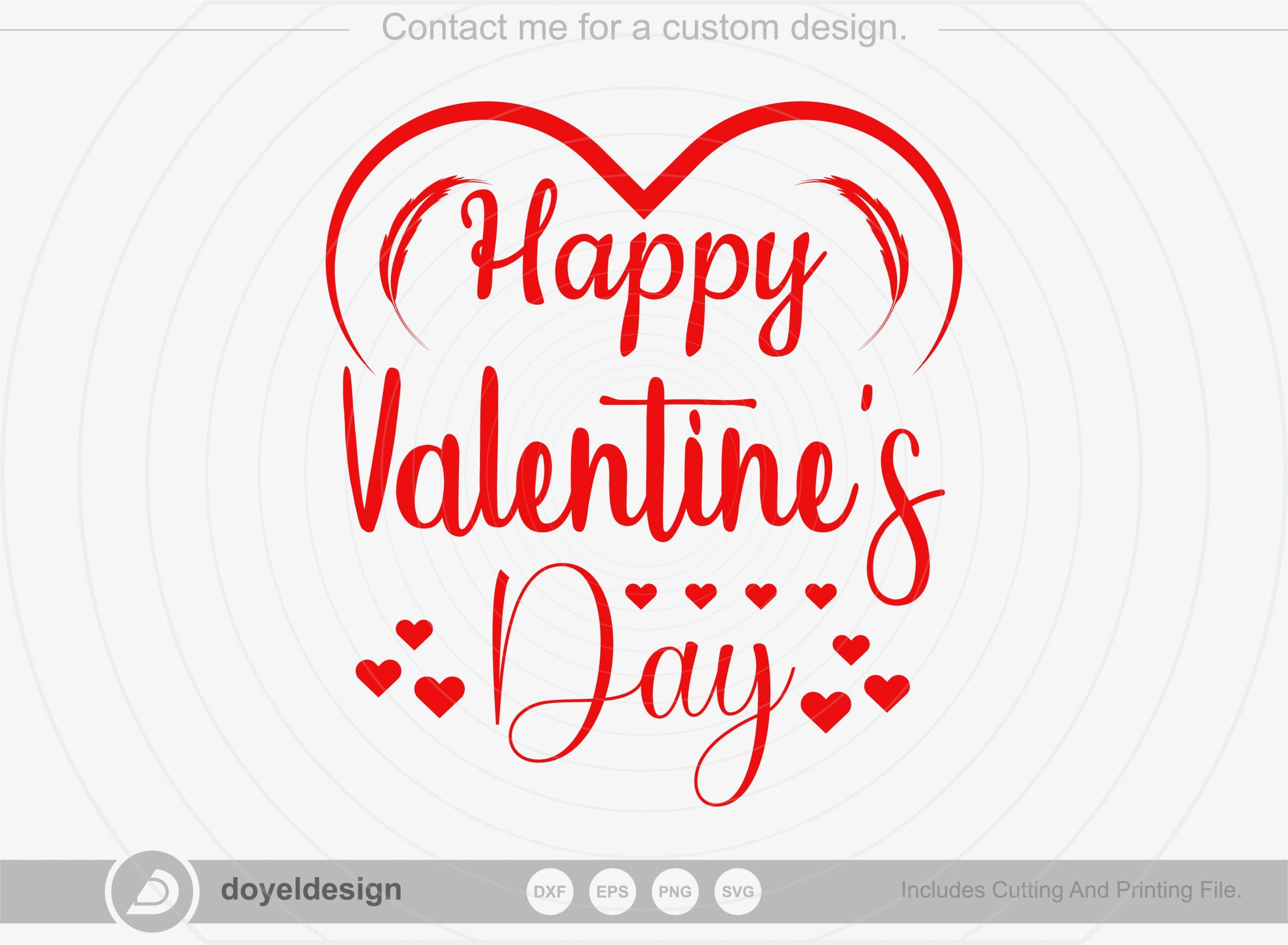 Happy valentines day SVG, T-shirt Design