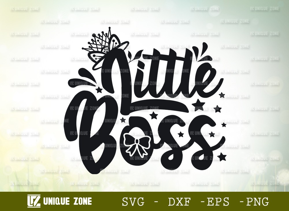 Little Boss SVG Cut File | | Mini Boss Svg | Child Bossy Svg
