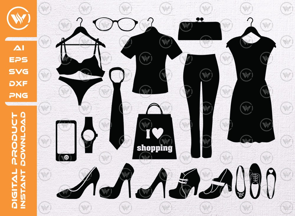 Shopping SVG | Clothing Silhouette Icon